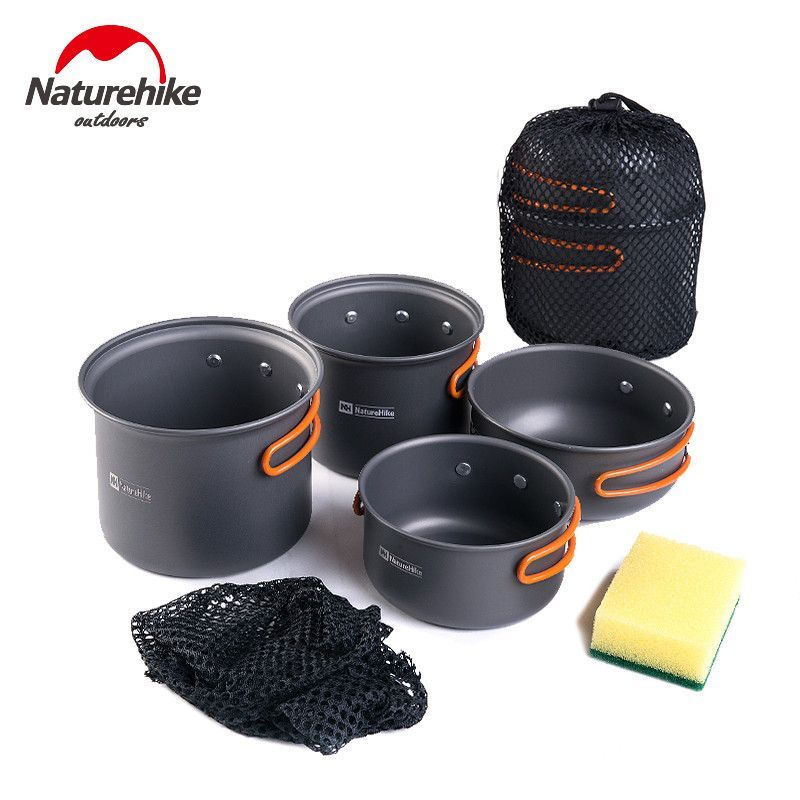 7c3ed8c4fdc6 Naturhike -New Ultralight Outdoor Camping Cookware Utensils Four ...