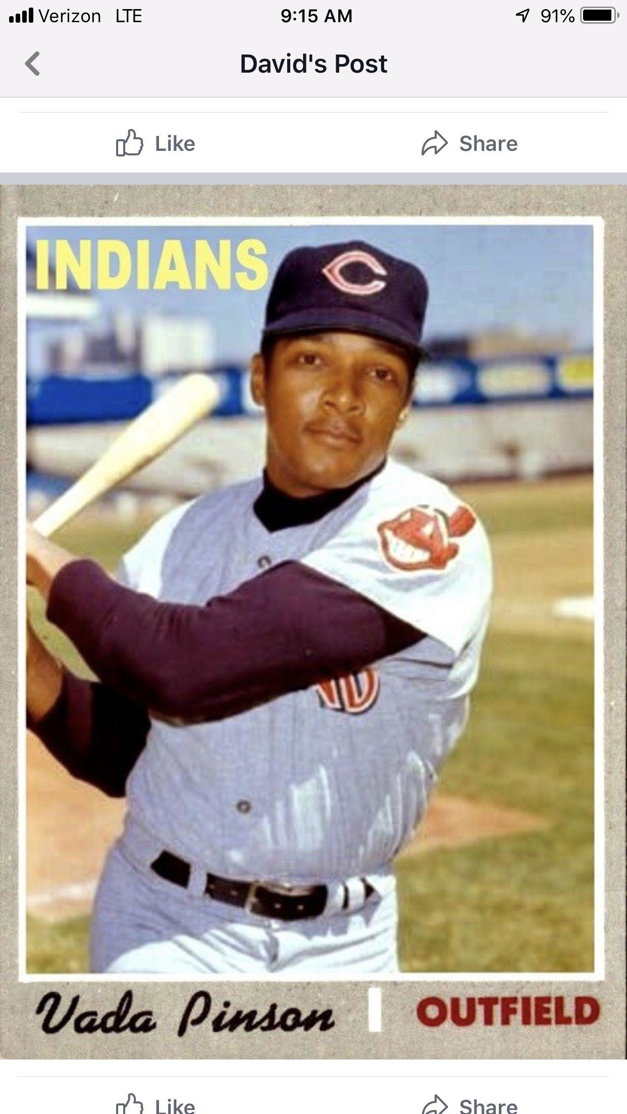 Pin By Steve Maurer On Indians Baseball Cards American League Cleveland Indians