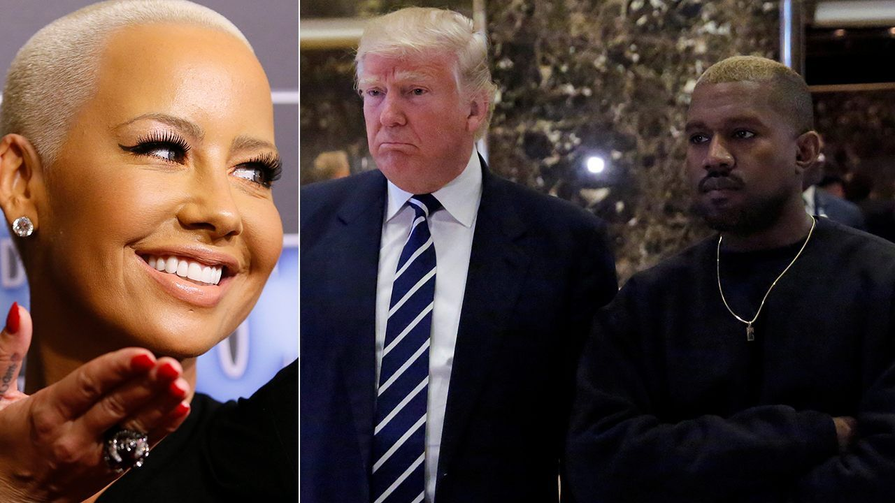Trump is 'Kanye in a white man's body' Amber Rose says