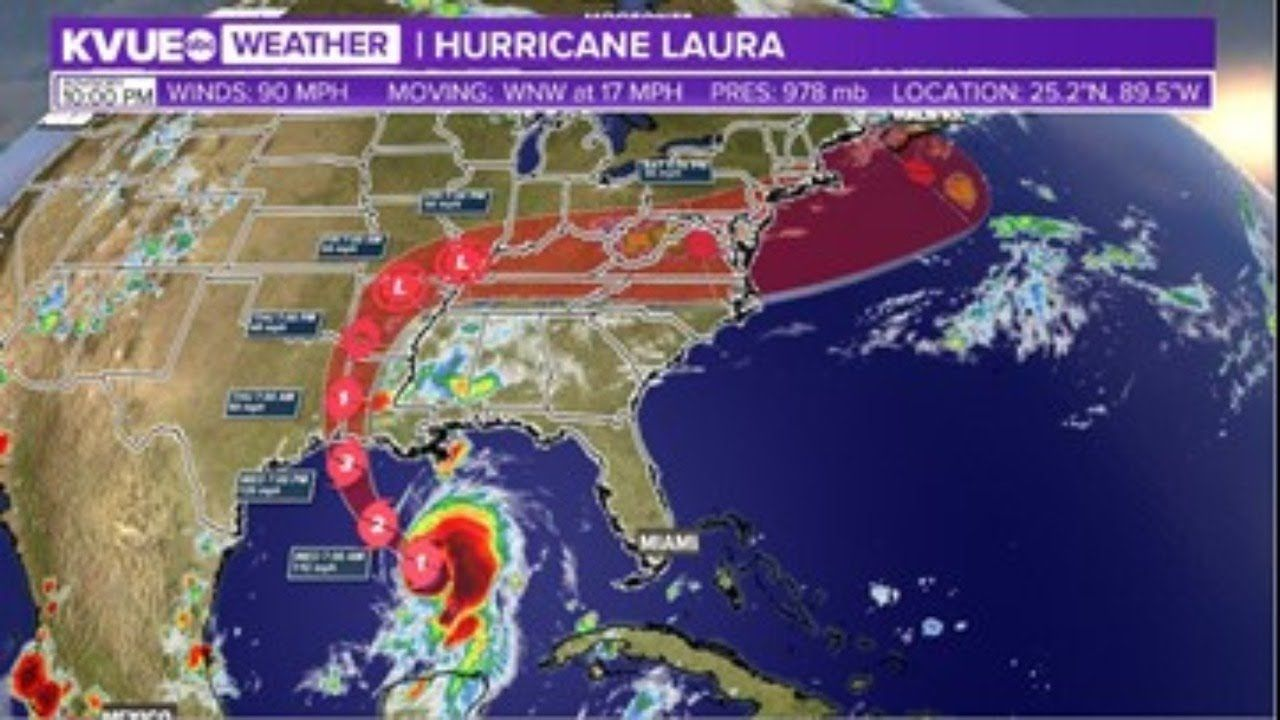 Radar Hurricane Laura Expected To Strengthen To Category 2 Overnight In 2020 Weather Alerts Weather Hurricane