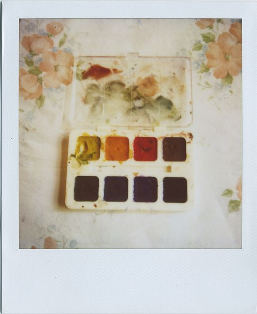 Watercolor polaroid
