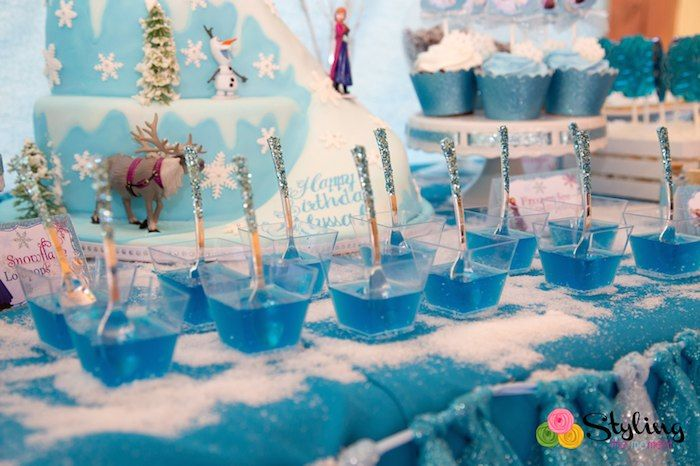 Frozen Themed Snowball In Summer Birthday Party