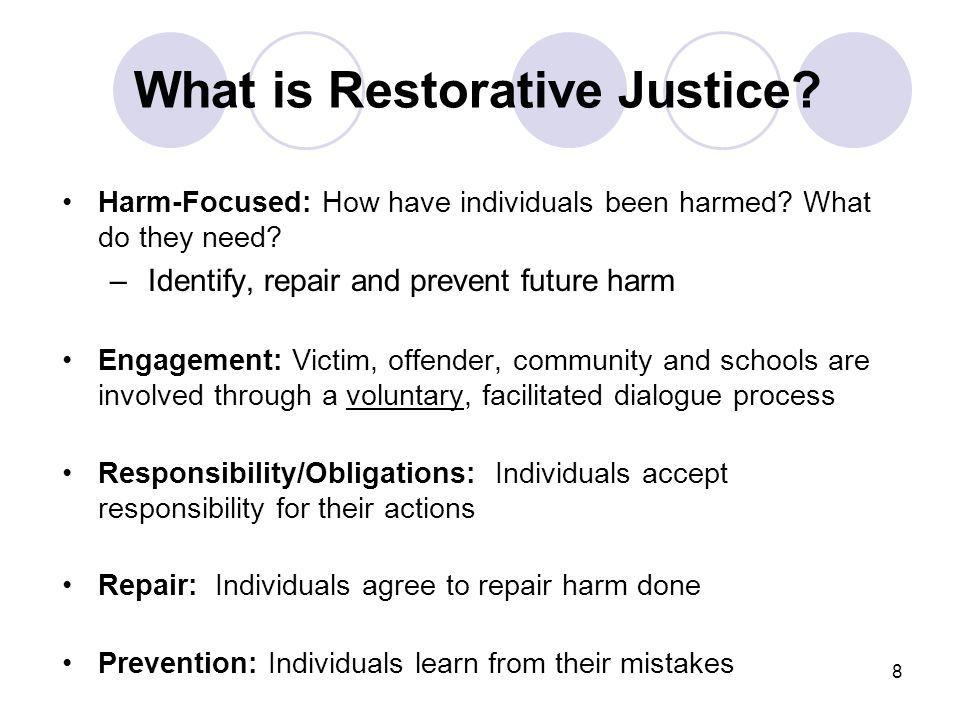 Restorative justice restorative justice prevention