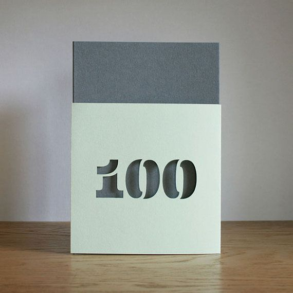 100 Years Old Greetings Card Age 100 Birthday By Springoncemore