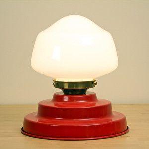 Metal Tiered Cake Pan Lamp Red --  a cake pan lamp!!