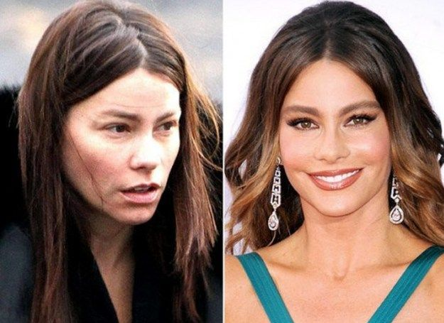 Sofia Vergara | The Power of Makeup: Celebrities Before and After | Unbelievable Makeover Transformation by Makeup Tutorials at http://makeuptutorials.com/23-celebrities-before-and-after-makeup-transformations/