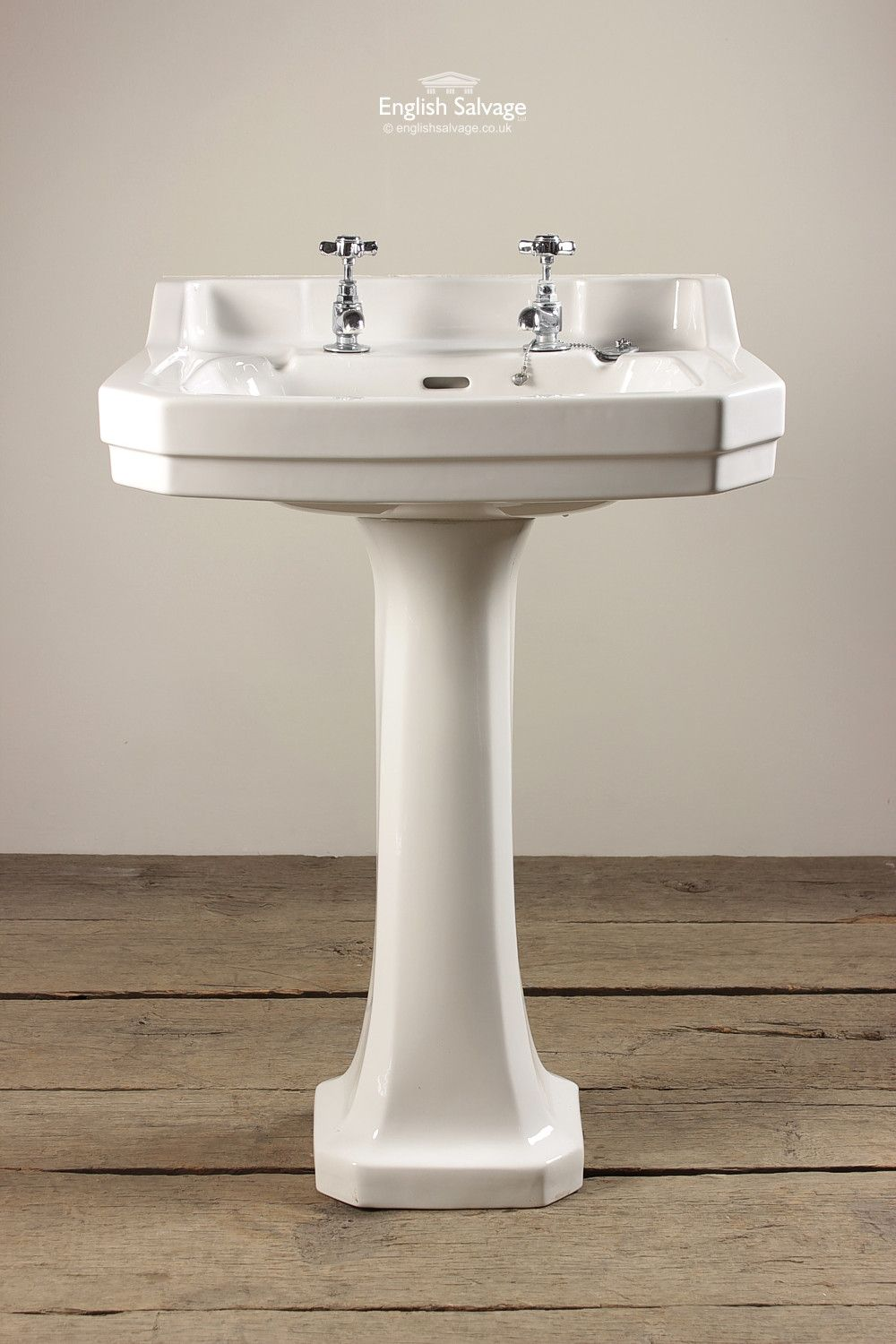 Shanks sink and stand reclaimed porcelain sinks and chrome stands - Adelphi Wash Basin And Pedestal