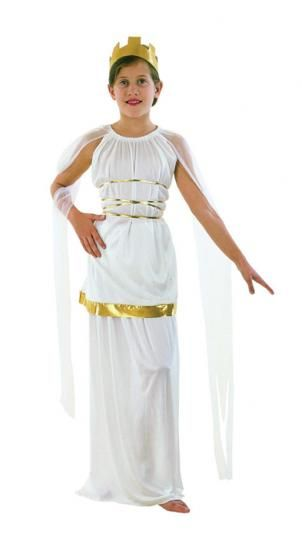 GIRLS ROMAN GODDESS GREEK TOGA FANCY DRESS COSTUME