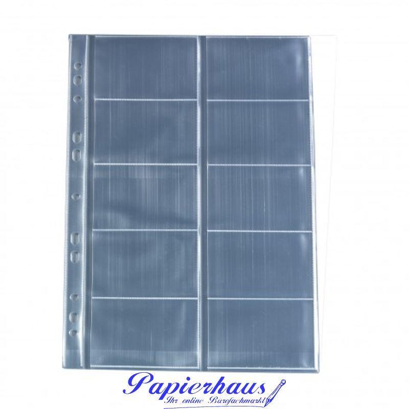 Visitenkartenhülle A4 10 Fächer Glasklar Pp 10 Stück