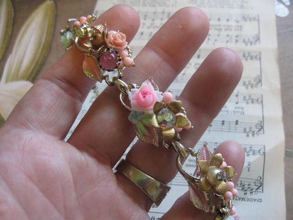 symphony of flowersvintage assemblage old ooak by originalnoell, $45.00