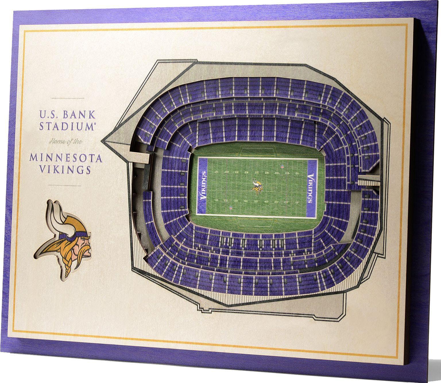 You The Fan Minnesota Vikings 5 Layer Stadiumviews 3d Wall Art In 2020 3d Wall Art Wall Art Minnesota Vikings