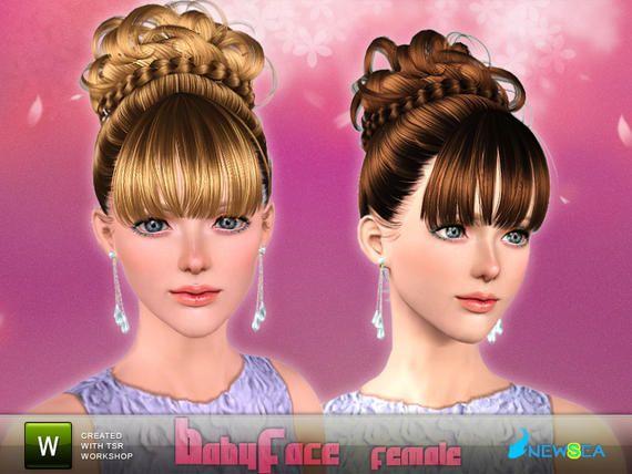Newsea Babyface Female Hairstyle Sims Hair Chignon Hair Womens Hairstyles