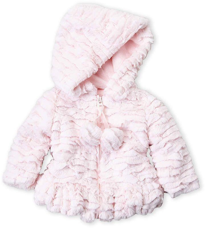 71b5b54c4 Newborn Infant Girls) Faux Fur Pom Pom Coat in 2018