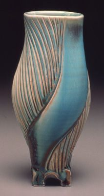 Leah Leitson Pottery Art Pottery Vase Pottery