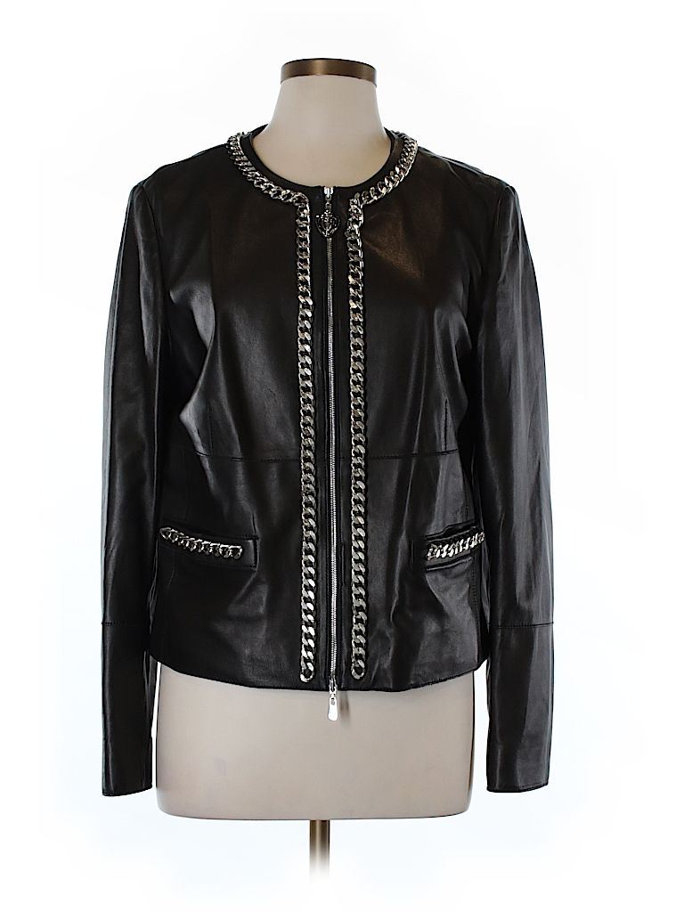 Escada Sport 100 Leather Solid Brown Leather Jacket Size 42 Eu 92 Off Leather Jacket Jackets Brown Leather Jacket [ 1024 x 768 Pixel ]