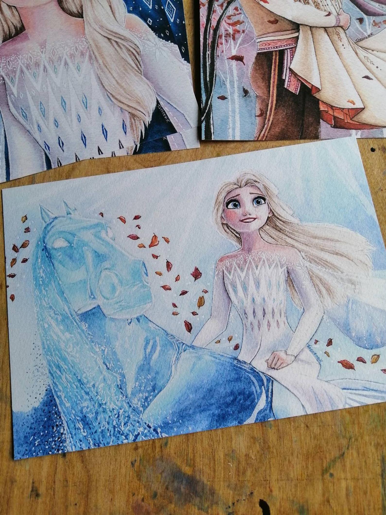 Original Disney Frozen 2 Watercolour Elsa Anna Kristoff Art Etsy In 2020 Disney Paintings Disney Canvas Paintings Disney Art Drawings