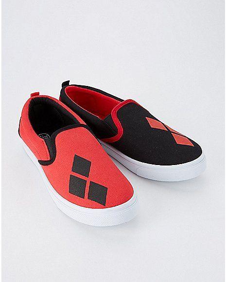 554233572da1 Harley Quinn Slip On Sneakers - DC Comics - Spencer s