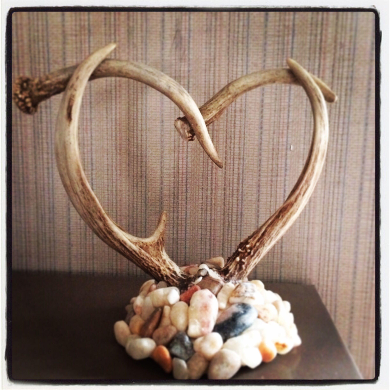 Our deer antler cake topper | Wedding stuff | Pinterest ...