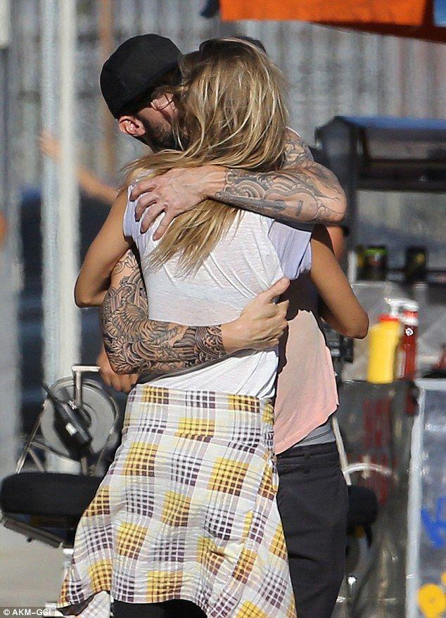 Behati Prinsloo Joins Husband Adam Levine On Set Of Animal Adam