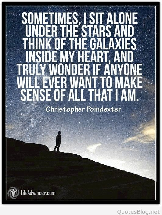 Alone under the stars quote
