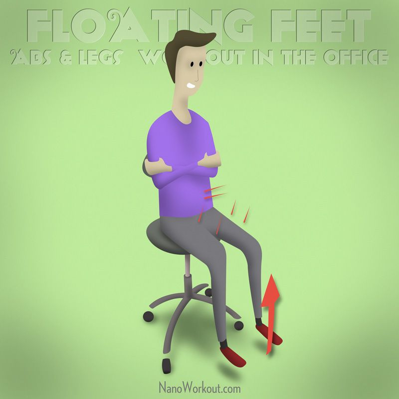 Floating Feet Abs legs workout in the office