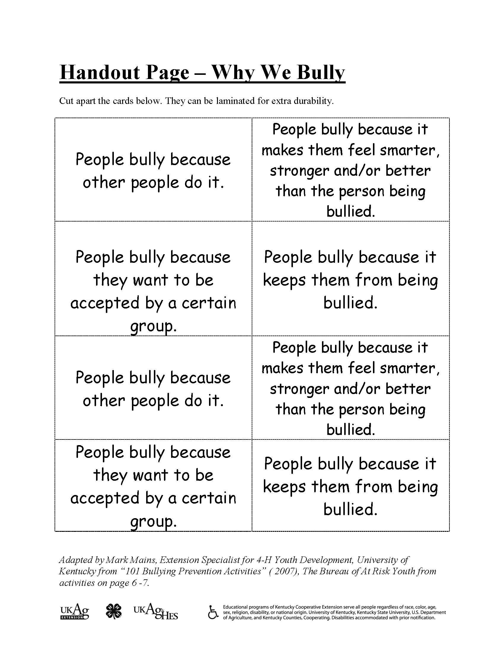 Pin By Wits Programs On Bullying Prevention Games And Activities