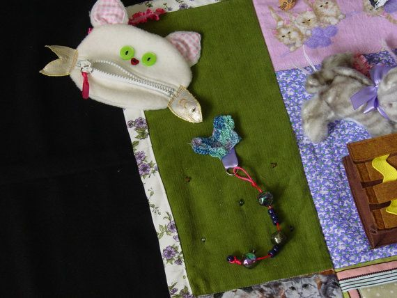 Fidgety Cat Lover – Quilt- Tactile – Bright & Colorful- Fun for Alzhiemer Patients