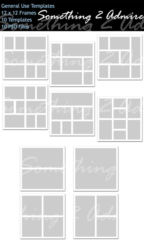 Storyboard 12x12 18 Files Photo Collage Template Photo Etsy Photo Collage Template Collage Template Photo Collage