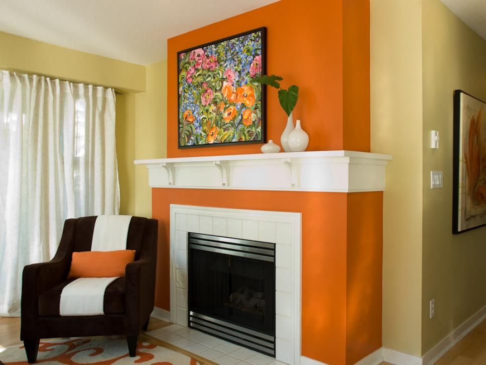 Color theory 101 analogous complementary and the 60 30 - Burnt orange accent wall ...