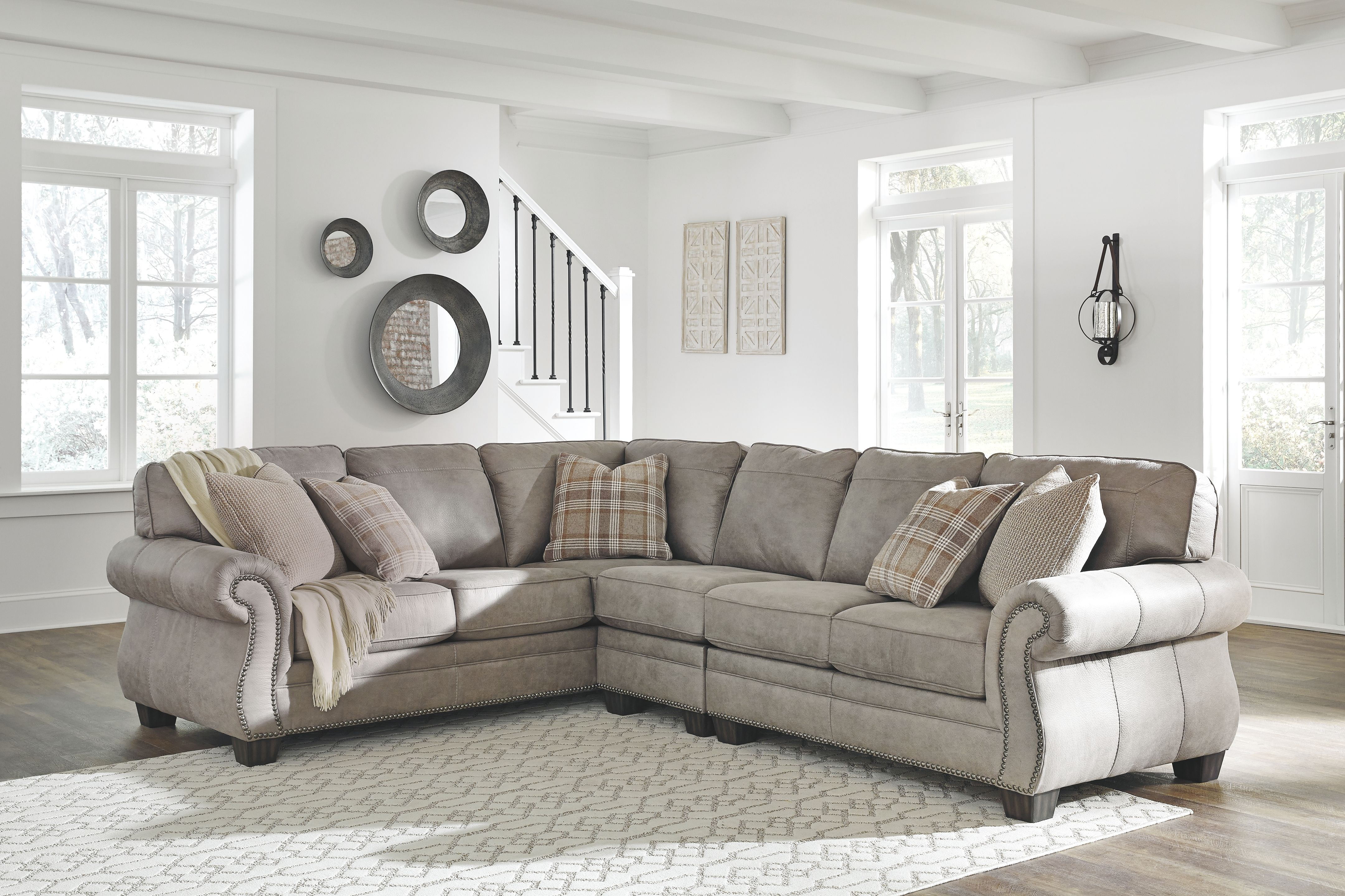 Olsberg 3 Piece Sectional In 2020 3 Piece Sectional Olsberg Sectional Sofas Living Room #olsberg #steel #living #room #set