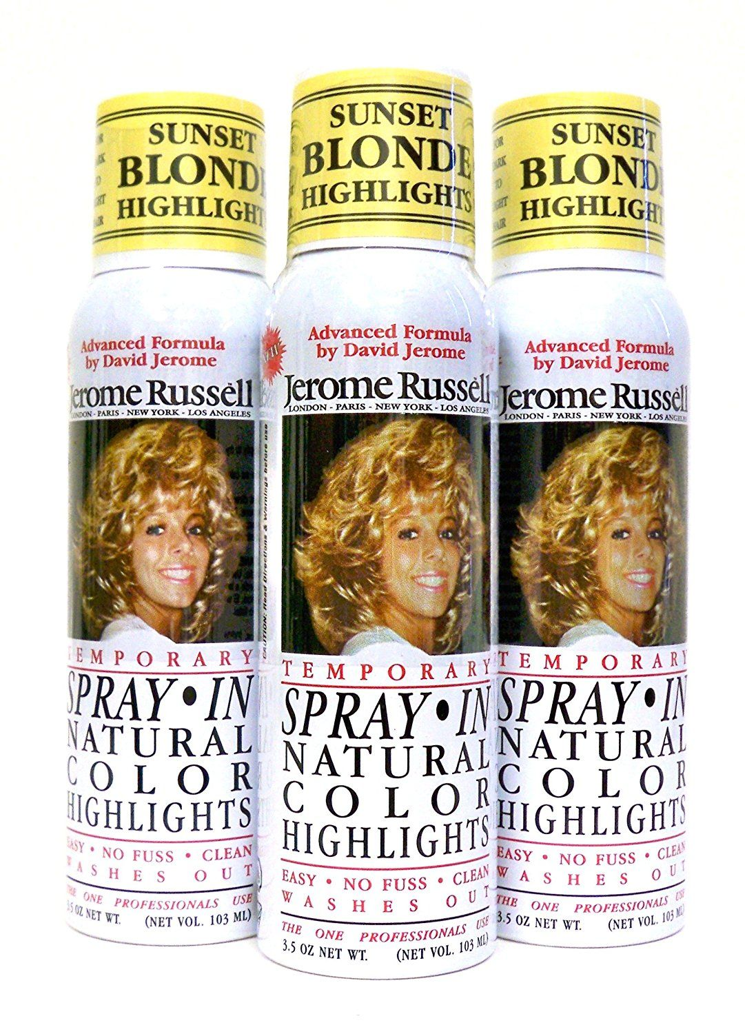 Jerome Russell Hair Color Spray Highlights Shampoos Out 3 Cans