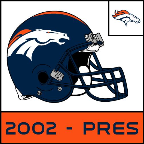 Complete Denver Broncos Helmet History Denver Broncos Helmet Broncos Denver Broncos