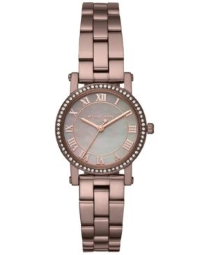 ebefada8d1fe Michael Kors Women s Petite Norie Sable Stainless Steel Bracelet Watch 28mm  MK3683 - Brown