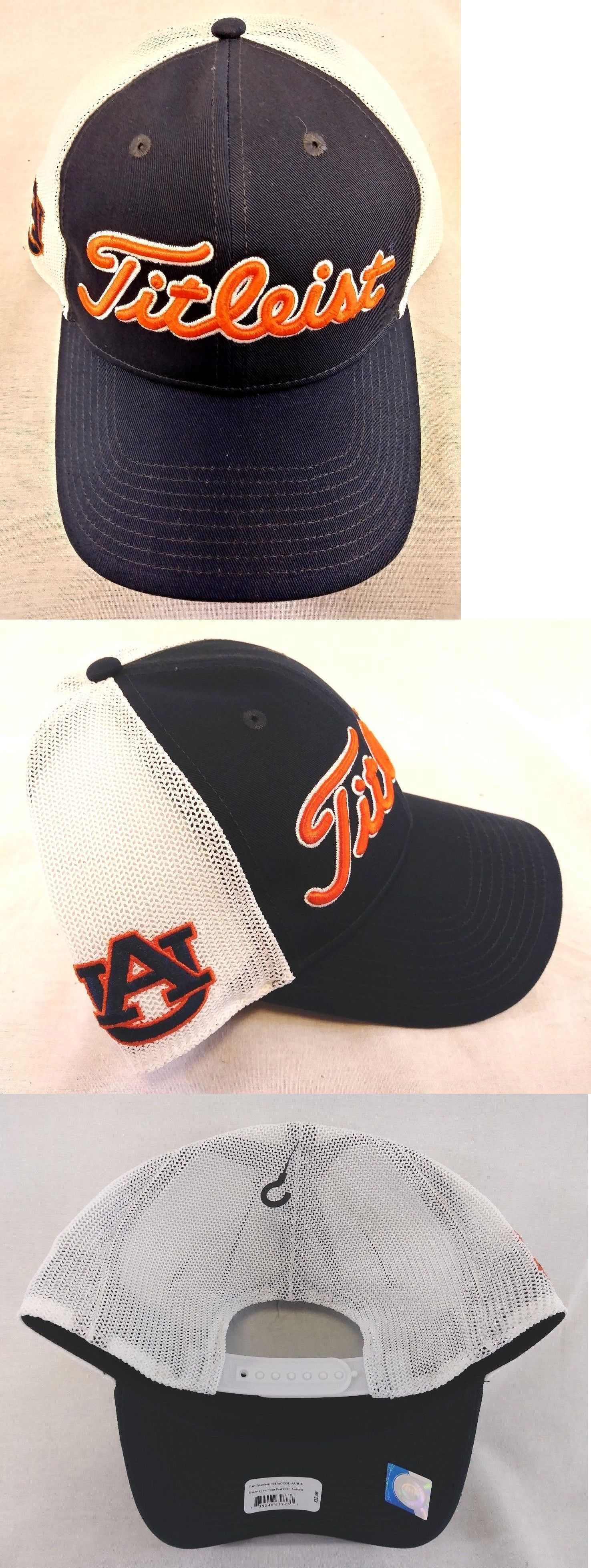641182bc2de ... germany golf visors and hats 158937 titleist auburn university  collegiate twill mesh golf hat new adjustable