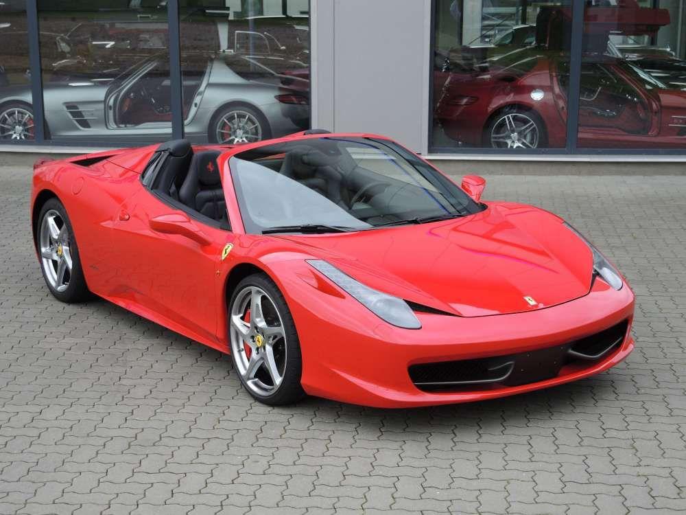 2012 Ferrari 458 Italia Spider red color Tags: #2012 # ...  Ferrari 458 Spider Red