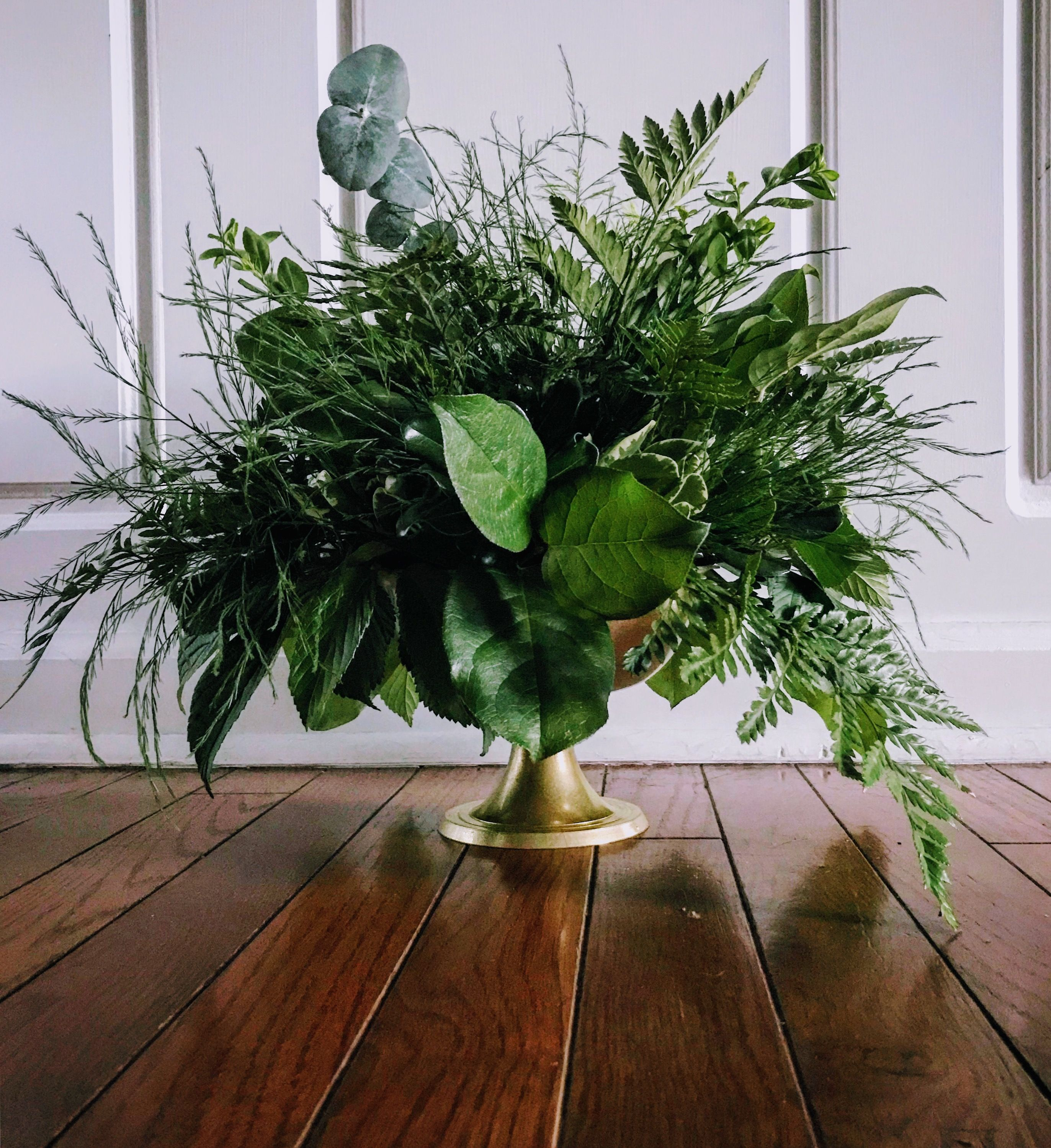 Lux Greenery Compote || Wedding Centerpiece || Bra