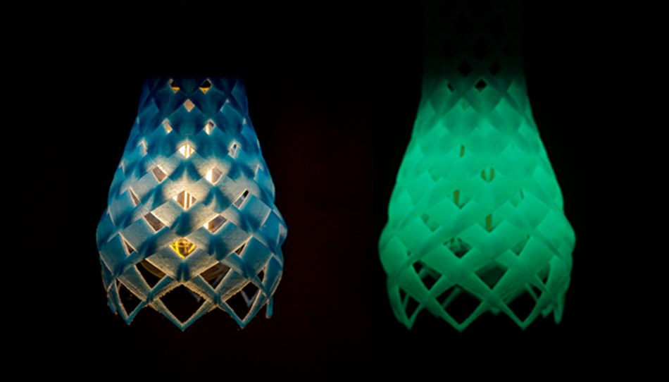 3D printed glow in the dark shades