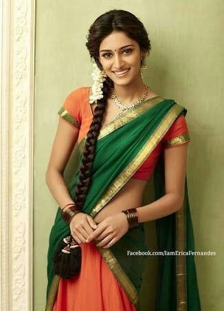 246663bf18 Simple Paavadai Dhavani / Half Saree. Can't beat the Beauty out of ...