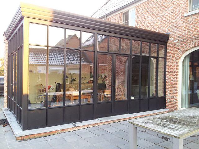 Veranda steellook zwarte structuurlak - Adr Construct (2) Verandas - Combien Coute Une Extension De Maison
