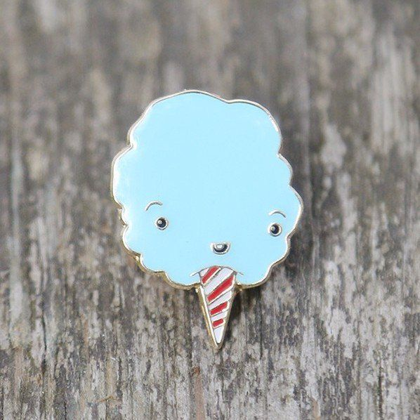 'Cute Cotton Candy' Pin (2 Colors!) by CRYWOLF