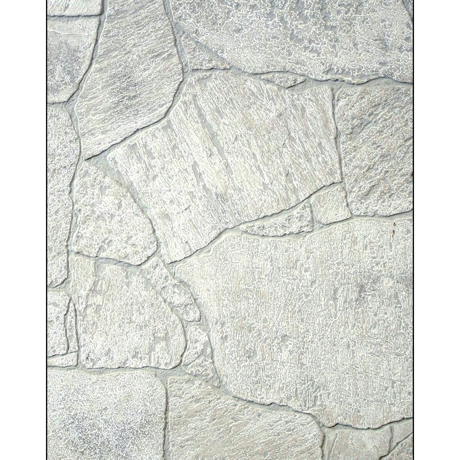 Shop Fashionwall 1 4 In X 4 Ft X 8 Ft White Stone