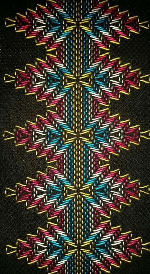 Huck Embroidery / Punto Yugoslavo / Swedish Weaving / Bordado ...