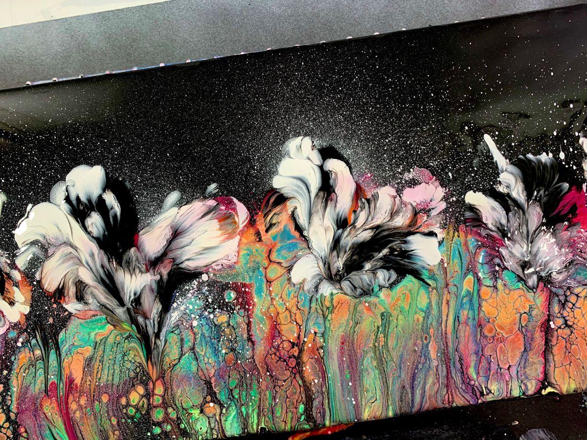 Spray Paint Pour in 2020   Schilderij