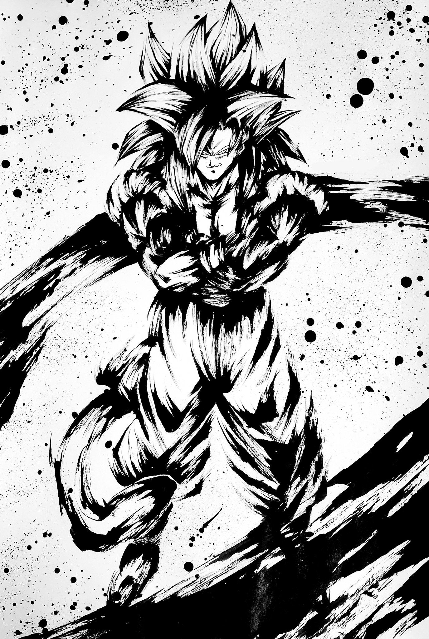 Pin by Son Goku サレ on Dragon Ball Ink Style Arts ️♠️ in