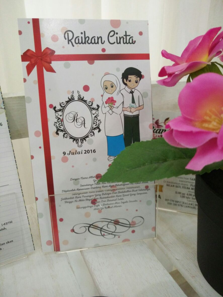 Everypost Kad Kahwin Pearl Design Design
