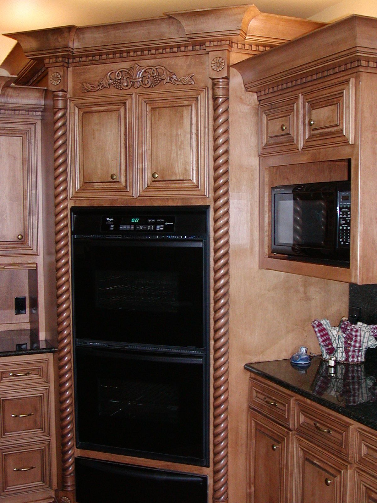 Custom Wall Oven Cabinets With Rope Trim By Texas Wood