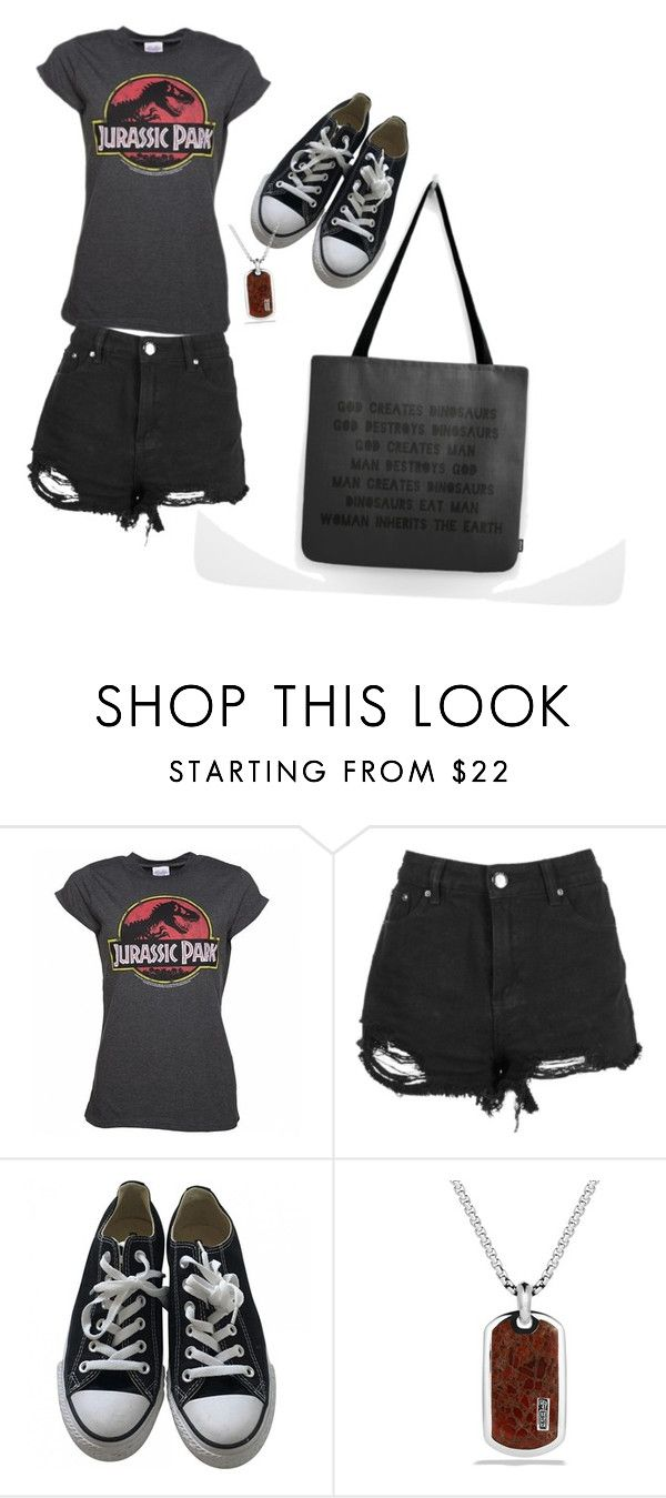 """Jurassic Park Tourist"" by nightshade98 ❤ liked on Polyvore featuring Converse and David Yurman"