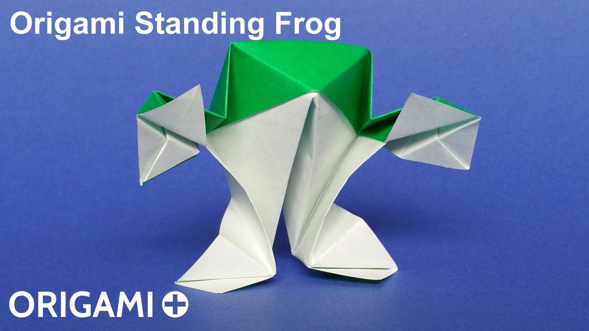 Create a very cute paper standing frog in origami how to make an create a very cute paper standing frog in origami how to make an origami standing jeuxipadfo Image collections