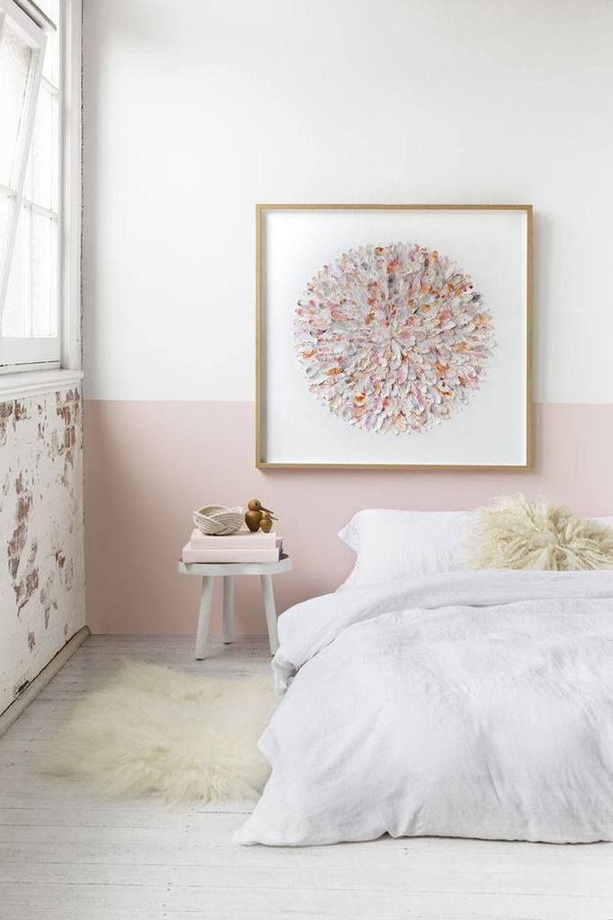 Inspirations : Le Rose poudré | Art | Bedroom decor, Half painted ...