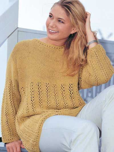 Loden Lace Tunic FREE knit sweater pattern download. Find this ...
